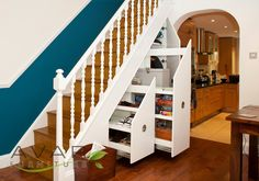 Under Stairs Door, All The Doors Fully Opened from Avar Furniture