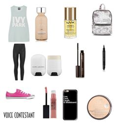 """Audition"" by ceirabear ❤ liked on Polyvore featuring Ivy Park, Thierry Mugler, Converse, L'Oréal Paris, NYX, Rimmel, Maybelline, Casetify, Marc Jacobs and Hourglass Cosmetics"