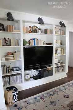 fall-built-in-styling.... wanting some built in bookcases like these surrounding my fireplace