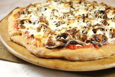 The Kitchen is My Playground: Sausage & Balsamic-Caramelized Onion Pizza - and a homemade whole wheat crust recipe