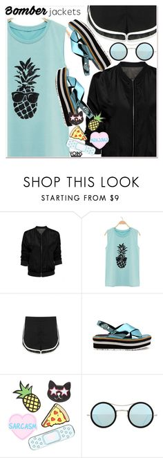 """""""Light Topping: Summer Bomber Jackets 2"""" by paculi ❤ liked on Polyvore featuring Forever 21, Kyme and bomberjackets"""