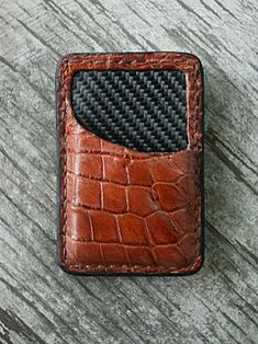 A Genuine Alligator Front Pocket Wallet Built Just For You. Lined With Real Carbon Fiber. Made In America From Your Friends At Vvego International. Christmas Gifts For Boyfriend, Boyfriend Gifts, Best Gifts For Men, Cool Gifts, Alligator Wallet, Wedding Gifts, Wedding Ideas, Leather Crafting, Front Pocket Wallet