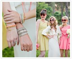 Bridesmaids with heart-shaped sunglasses... Love it!