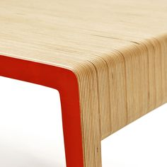 Ply Coffee Table painted Red