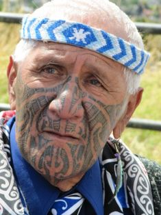 Amato - Maori Tribal Leader - New Zealand You can identify him as a leader by what he wears and his markings