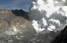 This image taken from a webcam on the White Island crator rim and released by the Institute of Geological and Nuclear Sciences (IGNS) via the GeoNet monitoring service on August 20, 2013 shows steam rising from the White Island Volcano off the North Island's Bay of Plenty. The volcanic activity is not believed to be related to a 6.5-magnitude earthquake which rocked Wellington on August 16 on the other side of the North Island.