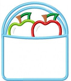 Apple Basket Machine Embroidery Design