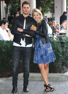 Cute and stylish couple! Michael buble and wife Luciana