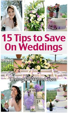 15 Tips to Save On Weddings - Cheap Wedding Ideas