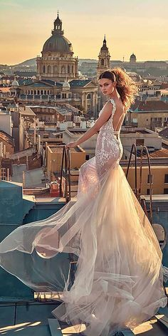 Breathtaking Low Back Wedding Dresses ❤ See more: http://www.weddingforward.com/low-back-wedding-dresses/ #weddings