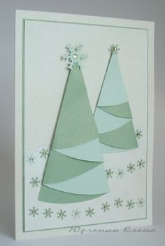 christmas craft ideas: christmas tree cards - crafts ideas - crafts for kids