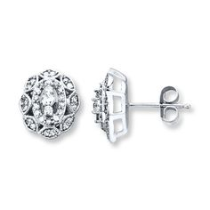 Jared Jewelery Diamond Stud Earrings | Diamond Earrings 1/3 ct tw Round-cut 14K White Gold