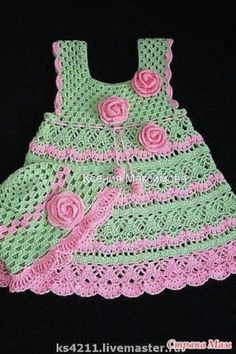 Vestido de niña hecho en crochet Dresses - Crochet Patterns for Baby by ennairam