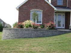 flowerbed landscaped retaining wall | ... MO, Retaining Walls, Keystone Legacy Block, Versa-lok retaining wall