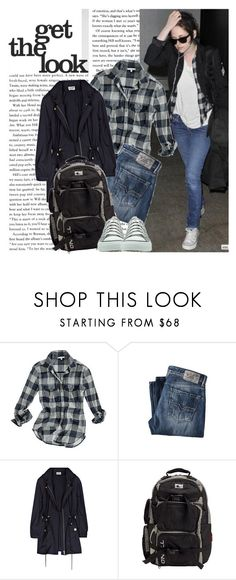 """Celebrity Street Style: Kristen Stewart"" by fashionholic1 ❤ liked on Polyvore featuring Forum, Madewell, Diesel, Alice by Temperley, O'Neill and Converse"