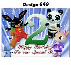 to Any age name for little or big Bing Bunny, Personalized Birthday Cards, Happy Birthday To Us, Minnie Mouse, Greeting Cards, Age, Prints, Ebay, Garden