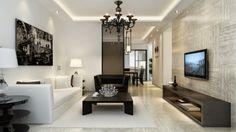 Salón moderno con tintes minimalistas