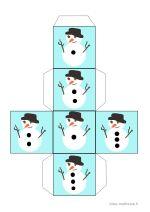 Jeu du bonhomme de neige : jeu mathématique très simple à imprimer. (pour PS et MS)