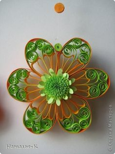 *QUILLING ~ Painting mural drawing Paper Quilling Flowers band photo 17
