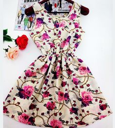 2014 Plus Size Women's Clothing Lace Chiffon printed dress Casual vestidos Women Dress summer fashion Dresses WC0375-1