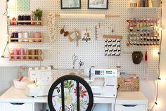 Sewing Space Tours...Heidi's stylish hub!