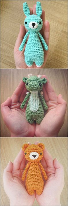 Small animal crochet patterns by Little Bear Crochets: www.littlebearcrochets.com #littlebearcrochets #amigurumi