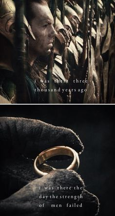 The Lord of the Rings: The Fellowship of the Ring. Chill - inspiring line.