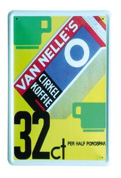 van Nelle 32ct 20x30 | Blikken borden 20x30 | www.19toen.nl