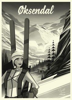 poster design process - Black and White Flats & Brushwork