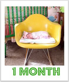 Monthly baby picture