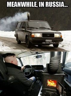 Meanwhile in Russia - Funny WTF Pictures gathered from the farthest corners of the internet for the sole purpose of making you laugh. Car Jokes, Car Humor, Funny Fails, Funny Memes, Hilarious Quotes, Funny Shit, In Soviet Russia, Meanwhile In Russia, Russian Memes