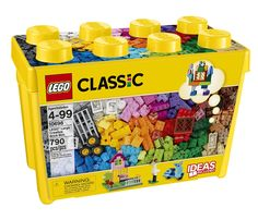 Latest release LEGO Classic Medium Creative Brick Box - 10696 provide the tools for open ended creative LEGO play. Use the LEGO Classic Medium Creative Brick Box - 10696 5 as a stand alone set or add to existing sets. Box Building, Building For Kids, Building Toys, Brick Building, Toys R Us, Plastic Box Storage, Toy Storage, Storage Ideas, Lego City