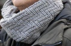 вязание спицами мужской снуд