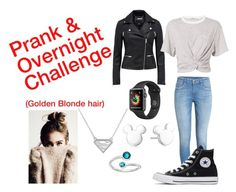 """""""Prank & Overnight Challenge"""" by autumnn09 ❤ liked on Polyvore featuring H&M, Converse, Disney, T By Alexander Wang and Alex and Ani"""