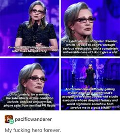 Carrie Fisher is the best 9gag Funny, Funny Memes, Hilarious, Funniest Memes, Fun Funny, Geeks, Be My Hero, Patriarchy, Faith In Humanity