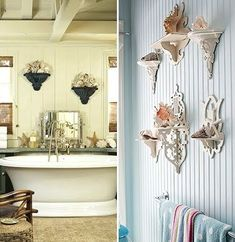 Wall Sconce Shelves    Too bad source is not available..I love the black ones as well.
