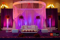 indian wedding, head table for wedding with couch