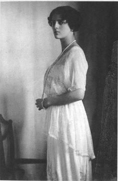 Princess Irina Alexandrovna (1895-1970) was the daughter of Grand Duchess Xenia (Nicholas' sister) and Grand Duke Alexander Mikhailovich. She married Prince Felix Yusupov, who is best known for his involvement in the murder of Grigori Rasputin.