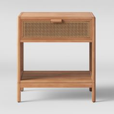 Minsmere Caned Accent Table Natural Brown - Opalhouse™ at Target. Deco Spa, Natural Wood Flooring, Sofa Styling, Furniture Hardware, Natural Brown, Particle Board, Wood Veneer, Interiores Design, Home Design