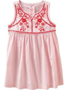 Embroidered Stripe Dresses for Baby | Old Navy