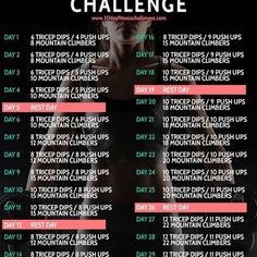 30 day #workout challenges!