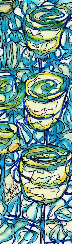 Roses en blau  17-4-16   retolador cafè punt s Dolors Buch Castañer