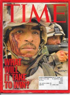 TIME MAGAZINE ~APRIL 7 2003 4/7/03 WHAT WILL IT TAKE TO WIN? Iraq BUSH Baghdad