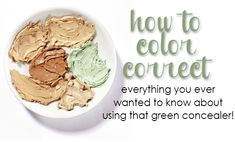 Color Correction 101: How To Use That Green Concealer!  Using a color corrector can fix your undereye circle, hide a pimple and make your melasma disappear!  Here's how to pick a product.
