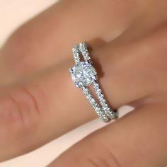 095 carats Round Cut Diamond Engagement Ring 14k by ldiamonds