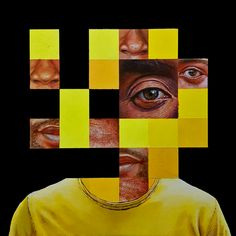 A selection of paintings by artist Juan Manuel Sanabria, from Buenos Aires, Argentina. Eye Illustration, Album Cover Design, Shape Art, Identity Art, Graphic Design Projects, Portraits, Art Portfolio, Community Art, Art Pictures