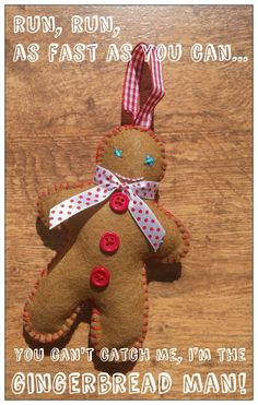 The Gingerbread Man ~ Made with Hugs & Kisses