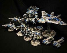 Tau Army, Tau Warhammer, Tau Empire, Necron, War Hammer, Game Workshop, Tabletop, Color Schemes, Miniatures