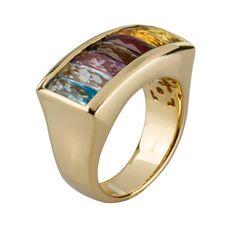 Sortija en oro amarillo de 18 kilates con piedras semipreciosas y diamante.// 18K yellow gold ring with semiprecious tons and diamond Gold Jewelry, Jewelery, Fine Jewelry, Diamond Rings, Gold Rings, Pearl Ring, Gemstone Colors, Bracelet Watch, Cuff Bracelets