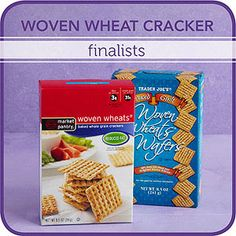 Woven Wheat - like Triscuits - Cracker Finalists for Diabetics